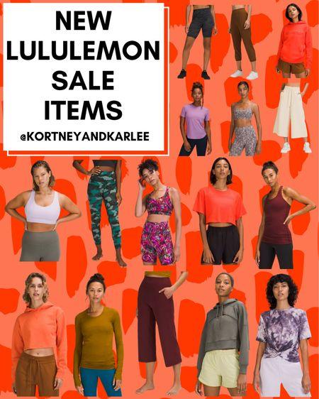 New Lululemon Sale items!  New Lululemon arrivals | Lululemon leggings | lululemon sports bra | lululemon tank | lululemon shorts | lululemon sweatshirt | lululemon top | lululemon shirt | Kortney and Karlee | #kortneyandkarlee @liketoknow.it #liketkit  #LTKunder50 #LTKunder100 #LTKsalealert #LTKstyletip #LTKSeasonal #LTKtravel #LTKfit