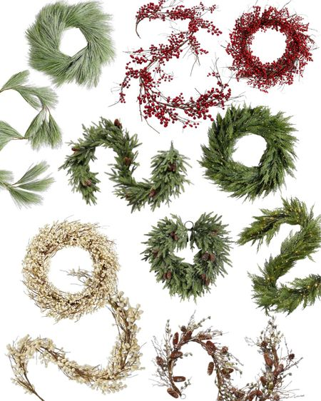 Better but these wreath and garland snow while in stock! Christmas decor faux greenery that looks real.    #LTKhome #LTKSeasonal #LTKHoliday