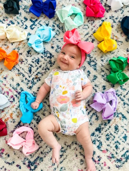 I've found the BEST bows with a wide, nylon band and the cutest grosgrain ribbon! Little missy is just as excited as mama is!   #LTKbaby #LTKkids #LTKbeauty