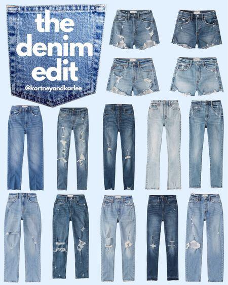 The Denim Edit! Abercrombie jeans are my favorite!!!  Abercrombie jeans | Abercrombie jeans sale | Abercrombie mom jeans | Abercrombie sale | Abercrombie skinny jeans | Abercrombie skinny jeans sale | Abercrombie shorts | Abercrombie denim shorts | Kortney and Karlee | #kortneyandkarlee #LTKunder50 #LTKunder100 #LTKsalealert #LTKstyletip #LTKSeasonal #LTKtravel @liketoknow.it #liketkit http://liketk.it/3hy2i