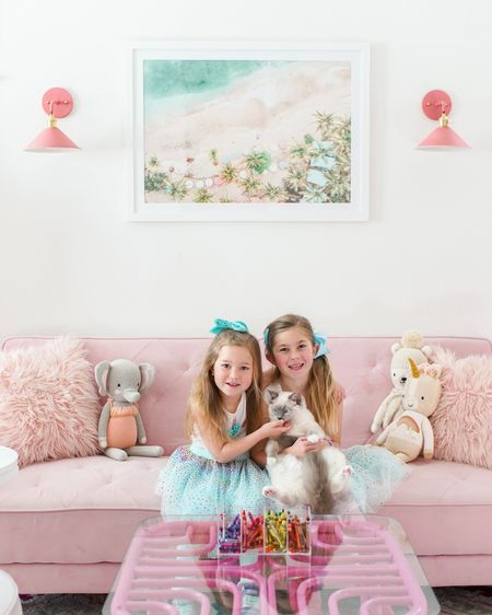 I guess this is the week of the playroom since this is my third share this week! We did the sconce hack with these cute little sconces and I couldn't be more obsessed. Let me know if you want me to share! All playroom details are up on the blog!    http://liketk.it/3afng #liketkit @liketoknow.it #LTKfamily #LTKkids @liketoknow.it.home   You can instantly shop my looks by following me on the LIKEtoKNOW.it shopping app