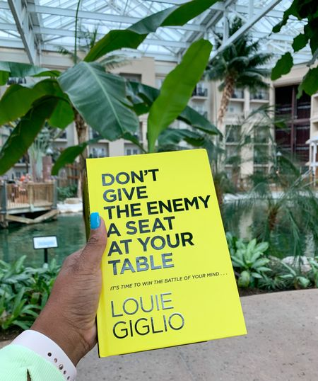 Heard a lot about this book by Louie Giglio, Don't Give the enemy a seat at your table. Really good. #Books #LouieGiglio #TravelPhotos #Faith   #LTKtravel