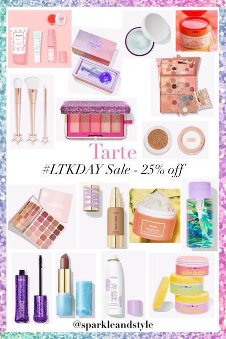 LTK Day Sale: Tarte - 25% off    http://liketk.it/3hqCB @liketoknow.it #liketkit #LTKDay  #LTKbeauty #LTKsalealert   Skincare set, facial globes, face globe, hydrating moisturizer, eyeshadow palette, makeup brush set, blush, bronzer, and highlight palette, chrome highlighter, lipstick, pineapple polish scrub, mascara, setting spray, whipped body butter, foundation, pore refining pads, micellar water makeup remover
