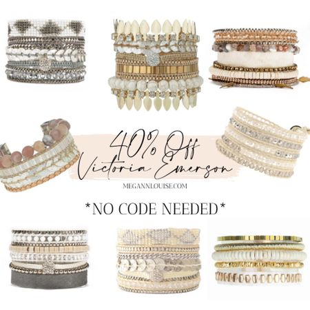 I'm obsessed! Victoria Emerson is having a HUGE sale on so many cutie bracelets and wraps! Sharing some of my favs here!    #LTKsalealert #LTKunder50 #StayHomeWithLTK