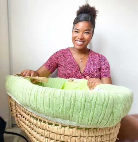 Getting baby ready with the Tadpole knitted baby Moses basket.   #LTKbaby #LTKfamily #LTKkids