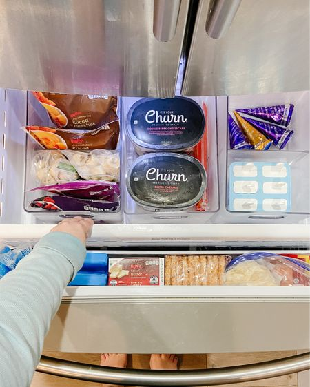 http://liketk.it/3jQ1R #liketkit @liketoknow.it #LTKhome  Organize your kitchen with these amazing freezer organizers! These are from The Container Store and are perfectly sized to fit in your freezer drawer or upright freezer. Complete with removable dividers, too!