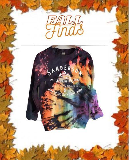 Sanderson sister Halloween sweatshirt Tie dye #ltkfall #etsy   #LTKSeasonal #LTKHoliday #LTKunder50