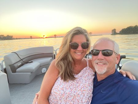 TGIF friends.  Here we are capturing our last sunset on the boat 2021.  Weather and sunset couldn't have been more perfect.  Now it's time to put her away for the season.   Dress is still available in several colors and sizes    #LTKstyletip #LTKunder50 #LTKSeasonal