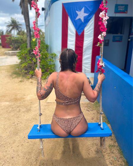 Loving this bikini from American Eagle / Aerie. Size small in top and medium in bottoms http://liketk.it/3fuli #liketkit @liketoknow.it #LTKstyletip #LTKunder50 #LTKswim