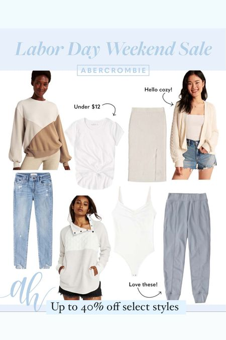 Labor Day Sales, Abercrombie & Fitch 40% off select styles, Fall staples on sale   #LTKSeasonal #LTKstyletip #LTKsalealert