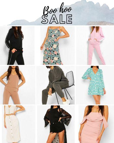 Boo hoo Sale Black Star Kimono, Floral Dresses, Sweat Pants Suit, Pink Dress, White Linen Set, White Linen Tank Top, White Linen Skirt. http://liketk.it/2Pqe9 #liketkit @liketoknow.it