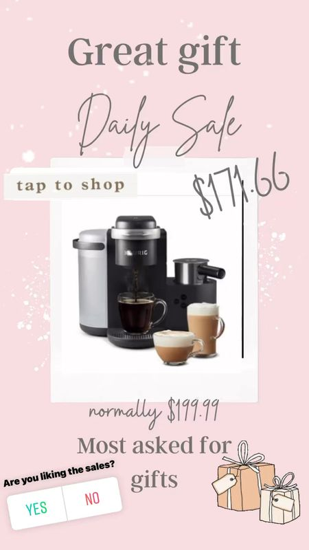 Great gift idea for the coffee lover or newlyweds ✔️ . On sale great deL For Christmas gifts!   #LTKGiftGuide #LTKsalealert #LTKhome