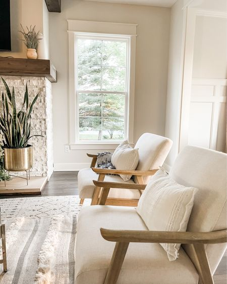 Love these neutral living room chairs dressed up with neutral textiles and metals✨ http://liketk.it/3gOOT #liketkit @liketoknow.it #LTKstyletip @liketoknow.it.family @liketoknow.it.home Shop my daily looks by following me on the LIKEtoKNOW.it shopping app #LTKhome #LTKfamily