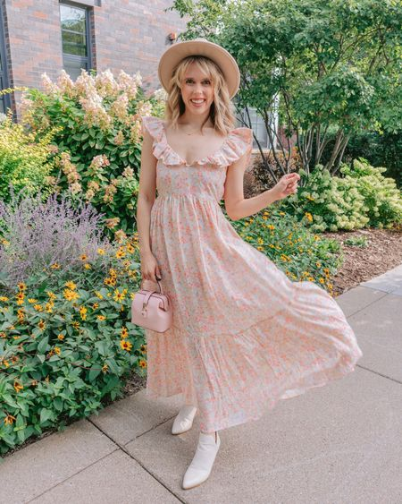 PRO TIP swap out your sandals for booties & add a hat to take that floral frock straight from summer to fall 🌸🍂  Okay who else does this? I don't care if it's proper it makes me feel like a cute, basic fall girly which I love . . .   #LTKSeasonal #LTKstyletip #LTKunder50