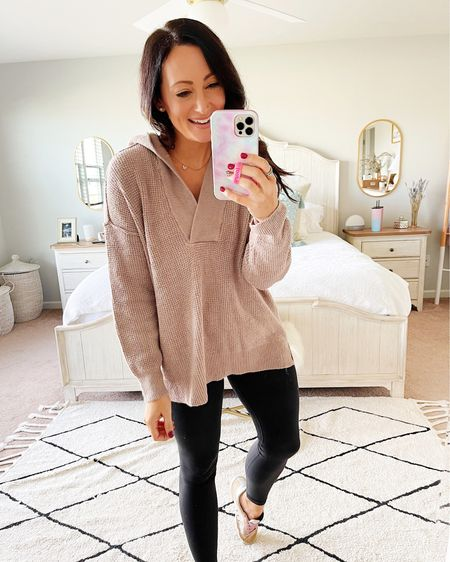 American Eagle sweater is 30% off - wearing my true size small!