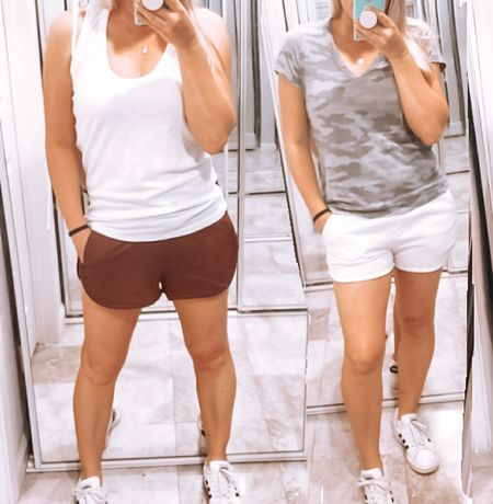 Picked up some new basics amd camo to wear over my swimsuits this summer or to lounge at home. These shorts are great quality and like a sweatpants material. My Tee and tank are lightweight and perfect to throw on with jeans, shorts, or even a maxi skirt. Im in an xs in the maroon shorts and tops and wearing a large in the light grey shorts- size up 2 (kids) Target fashion for her http://liketk.it/3dePI @liketoknow.it #liketkit #LTKSpringSale #LTKsalealert #LTKstyletip #LTKunder50 #LTKunder100 #LTKfit #LTKfamily #LTKswim #LTKbump #LTKcurves #LTKkids