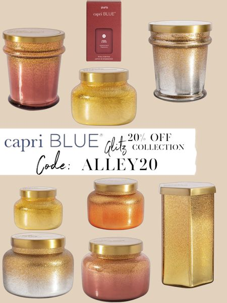 20% off Capri Blue candles glitz collection with code ALLEY20 😍  #LTKhome #LTKunder50 #LTKsalealert