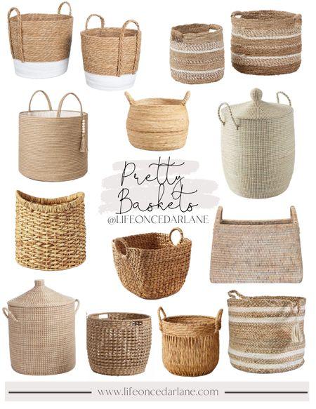 Basket roundup! So many pretty & affordable options to choose from!    #LTKstyletip #LTKsalealert #LTKhome