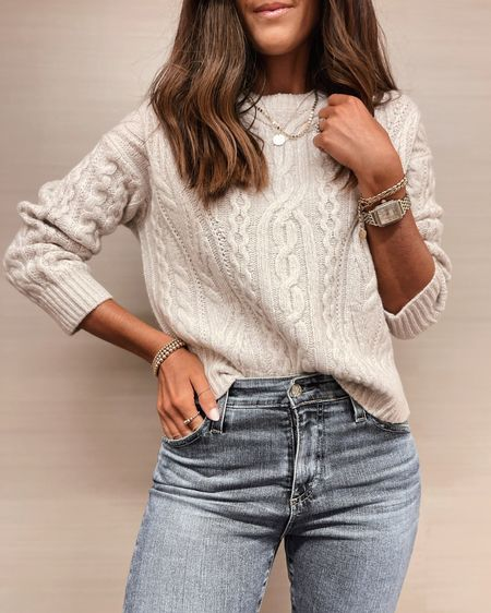 Fall style, pullover sweater is on sale for 60% off today! crewneck sweater, casual style, jewelry, StylinByAylin   #LTKSeasonal #LTKstyletip #LTKunder100