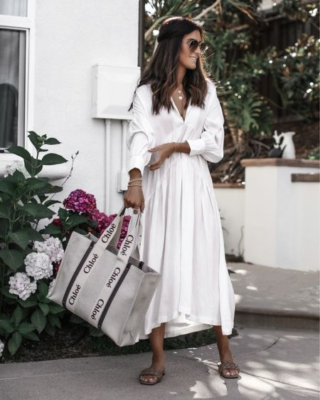 Wearing size small dress, I'm just shy of 5'7 for reference, linking similar white dresses, summer dress, white dress, date night, brunch dress, vacation outfit, sandals, tote bag, StylinbyAylin @liketoknow.it #liketkit http://liketk.it/3ifBd               #LTKstyletip #LTKshoecrush