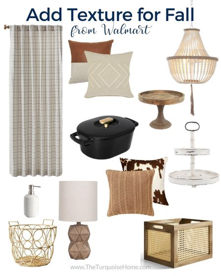 Decorate your home with cozy textured fall finds this season!!