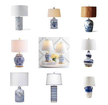 The best looking blue and white table lamps at every price point.   #LTKunder100 #LTKhome #LTKstyletip