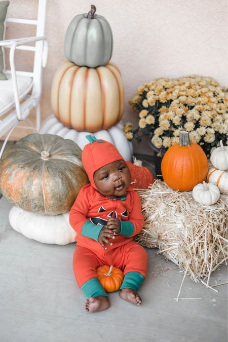 Look at this cute little pumpkin!! Love a set of darling pajamas for Halloween and fall! There's a ghost, bat, cat, etc etc etc! All so soft and darling!!! Also I think a fall porch is my very favorite porch! Linked up my decor I use every year http://liketk.it/2VCJ4 #liketkit @liketoknow.it #LTKbaby #LTKfamily #LTKunder50 @liketoknow.it.family