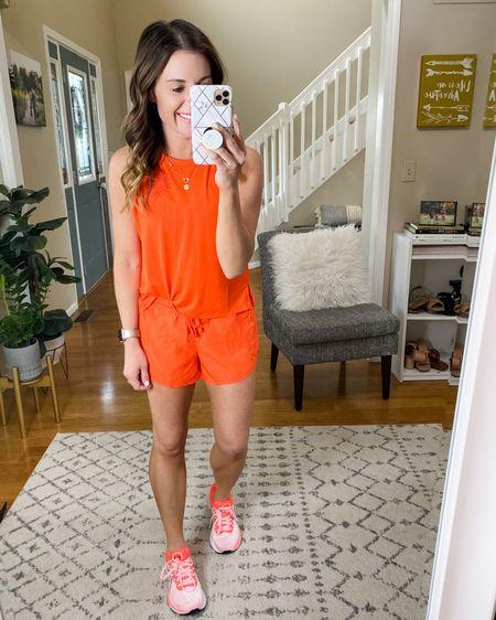 Summer style, mom gear, ASICS, work out wear, athleisure, summer shorts.    #liketkit http://liketk.it/3gVSu @liketoknow.it #LTKunder100 #LTKunder50 #LTKshoecrush