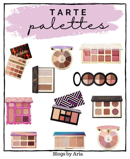 Tarte eyeshadow palettes and face palettes. I love tarte eyeshadow and blush!! The color payoff is amazing and applies smooth and even!   Beauty gift ideas  Beauty gift guide  Makeup gifts  Makeup must haves   #LTKbeauty   #LTKGiftGuide #LTKDay #LTKSale