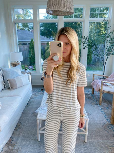 Guys these are the comfiest pajamas!! Sized up to a small, snag on Amazon with free prime shipping!   #pajamas #founditonamazon  #LTKunder50 #LTKstyletip #LTKsalealert