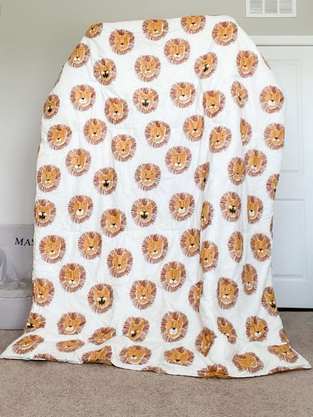 My toddler picked out a new comforter for his new toddler bed! Twin size lion bedding by Pillowfort from Target. This set includes 1 comforter and 1 pillow sham. Machine washable/dryer friendly.  #LTKhome #LTKkids #LTKunder50
