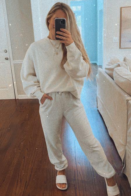 Loungewear. Small in sweatshirt and sweatpants  #LTKunder50 #LTKunder100