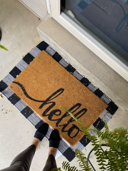 """Doormat via Walmart 🍁⚡️use code """"carolina15"""" for 15% off my shoes!  walmart home, walmart find, door mat  #LTKSeasonal #LTKunder50 #LTKhome"""