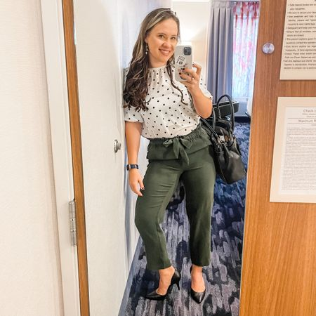 These pants are only $20 and the shoes are 40% off!  Work wear for the office and actually comfortable heels.   #LTKworkwear #LTKfit #LTKshoecrush