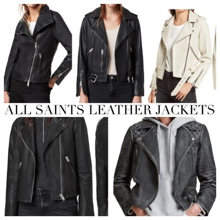 All Saints leather jackets. A gorgeous staple piece that will stand the rest of time   #LTKSeasonal #LTKstyletip #LTKeurope