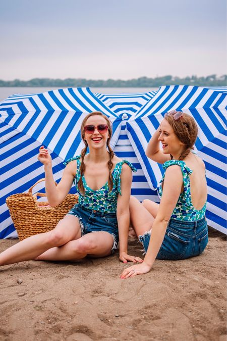 Bestie beach day BLUES. 💙🩱Can you believe it's already the end of July??😱 August always screams fall is around the corner and we're not ready to hang up our swimsuits just yet! Just saw that our favorite swimsuits EVER are back fully stocked and on sale! They're so flattering and the blueberry print couldn't be cuter!  Head to the LIKEtoKNOW.it app to shop these looks! .   #LTKswim