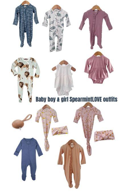 Baby girl and baby boy sleepers from spearmintLOVE #LTKbump #LTKbaby #LTKunder50 #liketkit @liketoknow.it http://liketk.it/37Z9b