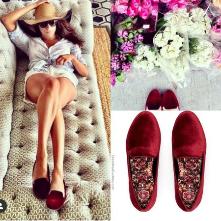 Meghan wearing Birdies Starling #velvet #shoes #lounge #casual #comfy (ID Meghan's closet chronicles)  #LTKhome #LTKstyletip
