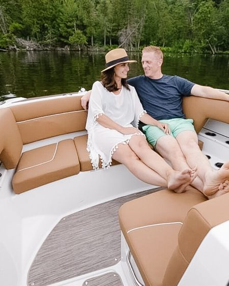 Love all the memories I have with this guy! This one was a a night spent on gorgeous Torch Lake, MI with our boys on a beautiful Glastron boat. ❤️  http://liketk.it/2RkpL #liketkit @liketoknow.it