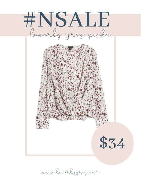 This is a such a barest top to take you from work to weekend. This would be perfect for all my teachers and nursing mamas.   #LTKsalealert #LTKunder100 #LTKworkwear