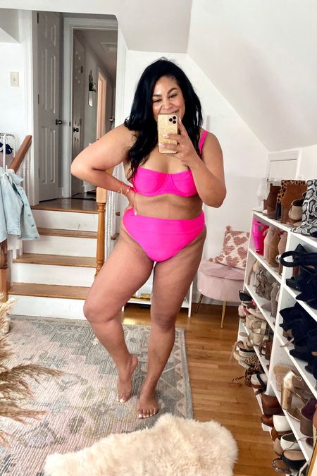 Swimsuit is from aerie! 60% off, wearing a different top but linking similar in this color! Wearing a L on bottom #liketkit @liketoknow.it http://liketk.it/3gNe5 #LTKcurves #LTKswim #LTKsalealert