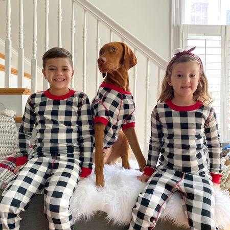 Matching pajamas, holiday pictures, dog pajamas, Buffalo plaid, family pajamas, pet pajamas   #LTKHoliday #LTKfamily