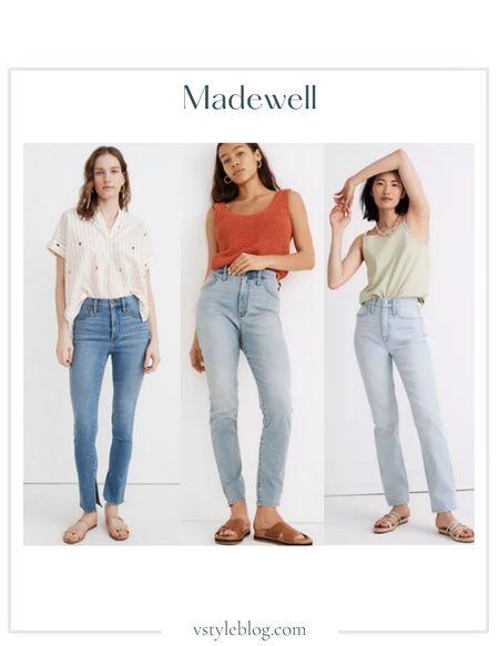 Summer Jeans, High Waisted Jeans, Medium Wash Jeans, Light Wash Jeans, LTK Day, Sale Alert  High-Rise Roadtripper Supersoft Jeans Ankle Slit (was $79.50, now $59.99), Curvy Roadtripper Jeans ($79.50), Classic Straight Full-Length Jeans ($118)  #LTKunder100 #LTKsalealert #LTKDay