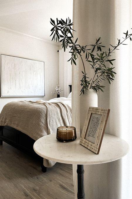 Marble bistro table side bedroom http://liketk.it/3imlC #liketkit @liketoknow.it @liketoknow.it.home #LTKhome