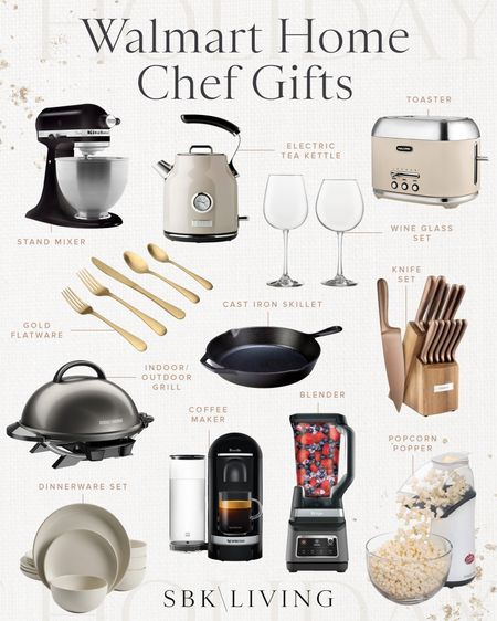 H O L I D A Y S \ Home chef gift guide🧑🏼🍳👩🏻🍳 Here are my top picks a la @walmart #ad SO many good ideas for this holiday season! I just got the black Kitchenaid and she's a beaut!!🖤 Ford and I used it today to make gf brownies for Grandpa's birthday!! Recipe linked over on stories. A whole lot of baking is happening in our household! Shop my roundup on the LTK app!🎁  #walmart #walmartfind #walmarthomr gifts #holiday #chef #kitchen #cooking #baking #giftguude  #LTKGiftGuide #LTKhome