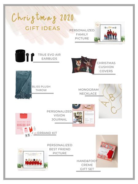 Budget-Friendly Christmas Gift Ideas 2020 #LTKunder50 #StayHomeWithLTK #LTKstyletip  - gift for mom, gift for parents, personalized gift, EarPods, monogram necklace, vision journal, throw, gift set, errand kit, personalized gift for best friend, gift guide, personalized family photo  http://liketk.it/30aHx #liketkit @liketoknow.it