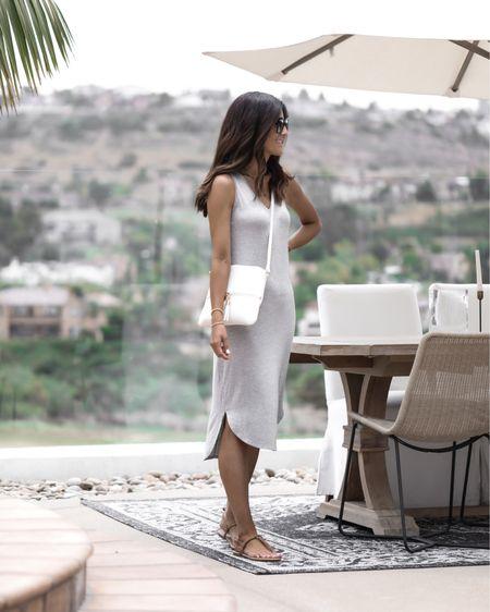 Amazon fashion, wearing size small dress, I'm just shy of 5'7 for reference, amazon dress, summer dress, beach dress, casual date night look,  handbag, amazon sandals, sunglasses, StylinbyAylin @liketoknow.it #liketkit http://liketk.it/3i1EW               #LTKstyletip #LTKunder50 #LTKunder100