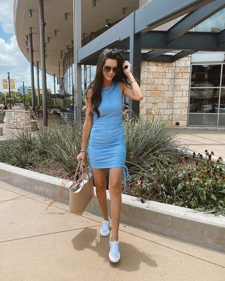 Wearing a small in this Amazon dress http://liketk.it/3jNM4 @liketoknow.it #liketkit #LTKstyletip #LTKunder50 #LTKtravel amazon finds, amazon outfit, amazon style, amazon fashion, superga,