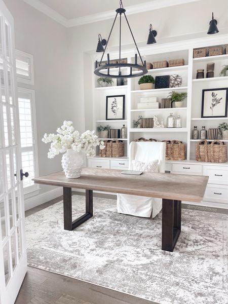 Office decor, home decor, my Texas house rug, desk, home office   #LTKunder50 #LTKunder100 #LTKhome