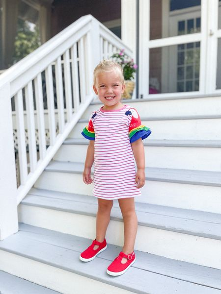 Amazon dress and Cienta sneakers from Jenzy. Use code KATIEVAIL to save 15% on your first order from Jenzy.  #LTKfamily #LTKkids
